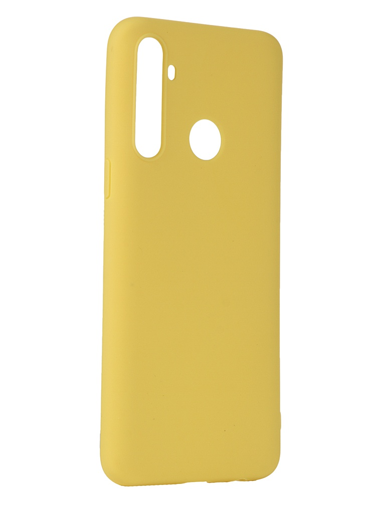 Чехол Pero для Realme 6i Silicone Clip Case Soft Touch Yellow CC01-R6iY