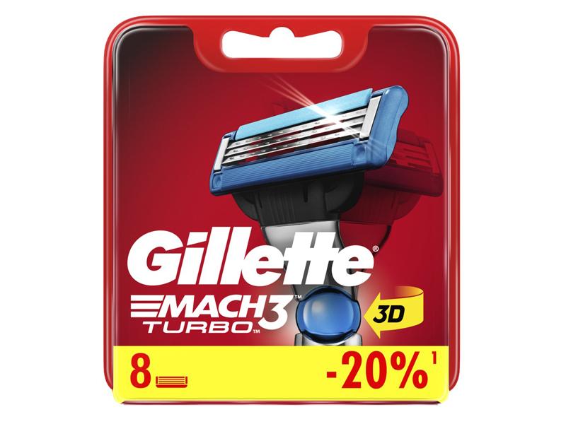 Сменные кассеты Gillette Mach3 Turbo Aloe Red 8шт 3014260331320