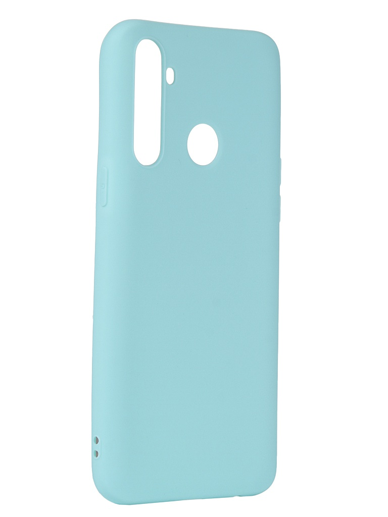 Чехол Pero для Realme 6i Silicone Clip Case Soft Touch Turquoise CC01-R6iC