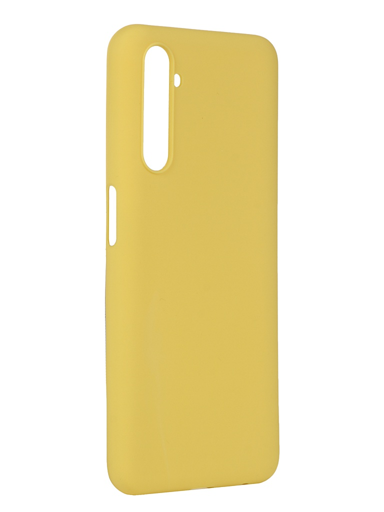 Чехол Pero для Realme 6 Silicone Clip Case Soft Touch Yellow CC01-R6Y