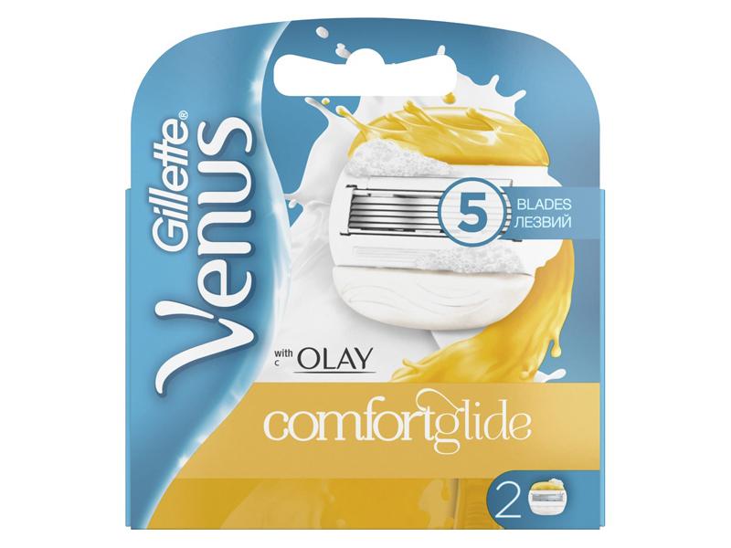 Сменные кассеты Gillette Venus&Olay ComfortGlide 2шт 7702018089031