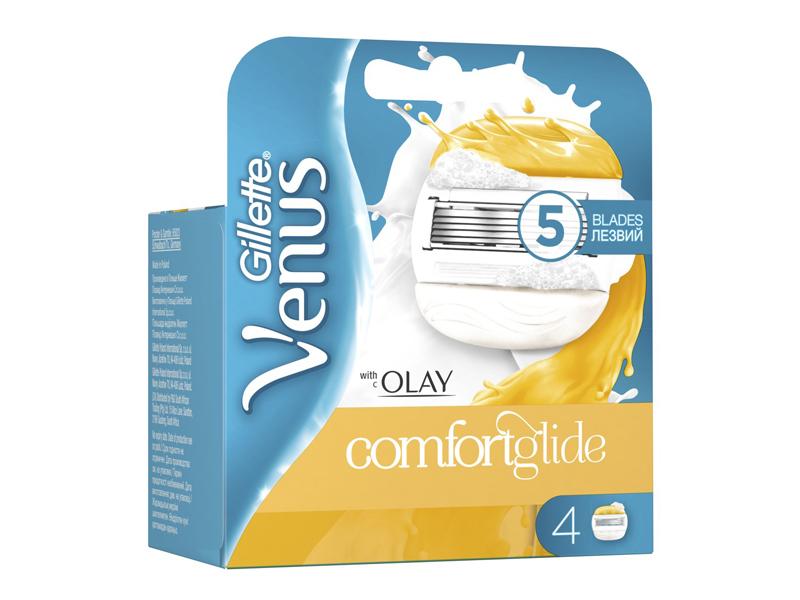 Сменные кассеты Gillette Venus&Olay ComfortGlide 4шт 7702018267637