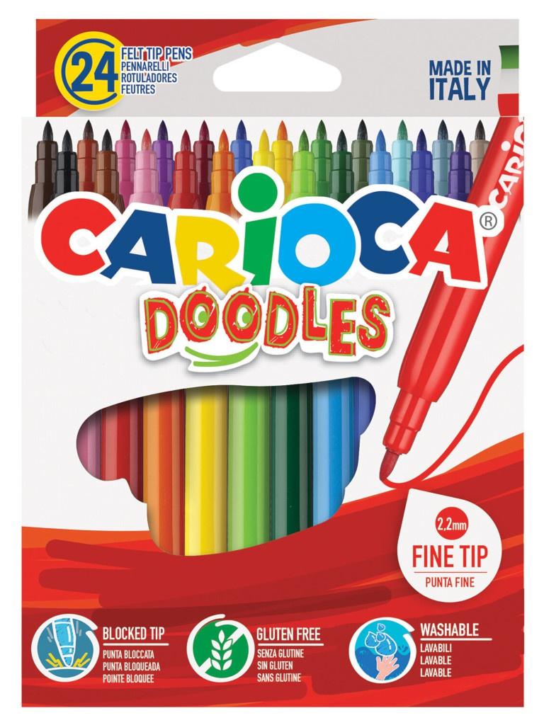 Фломастеры Carioca Doodles 24 цвета 42315