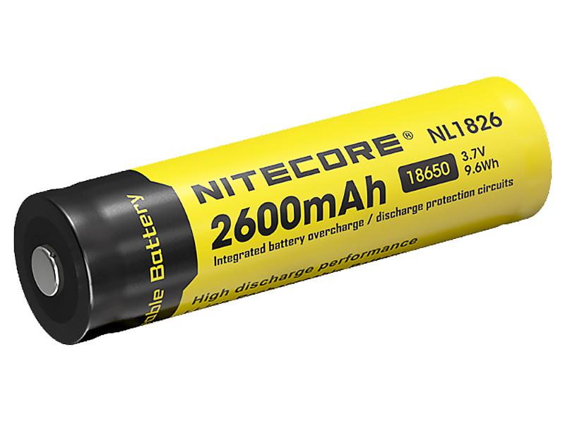 Аккумулятор Nitecore Rechargeable 18650 Li-Ion 2600 mAh NL1826