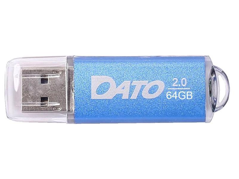 Фото - USB Flash Drive 64Gb - Dato DS7012 USB 2.0 Blue DS7012B-64G usb flash drive 8gb dato ds7016 usb 2 0 silver ds7016 08g