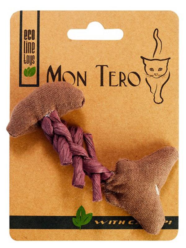 Игрушка для кошек Mon Tero Эко Рыбья кость с кошачьей мятой Purple 51461