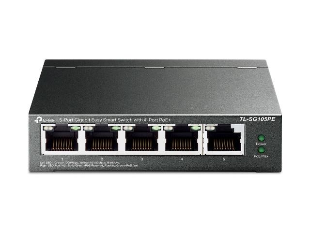 Коммутатор TP-LINK Easy Smart TL-SG105PE коммутатор tp link tl sg1024 v11