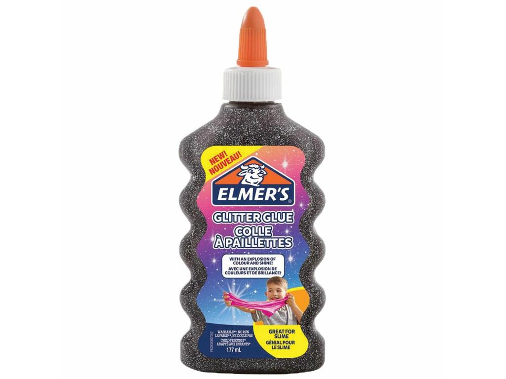 Слайм Elmers Glitter Glue для слаймов 177ml Black 2109501