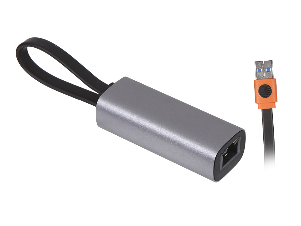 Сетевая карта Хаб USB Baseus Steel Cannon Series A - Type-C Bidirectional Gigabit LAN Adapter Dark Grey CAHUB-AF0G