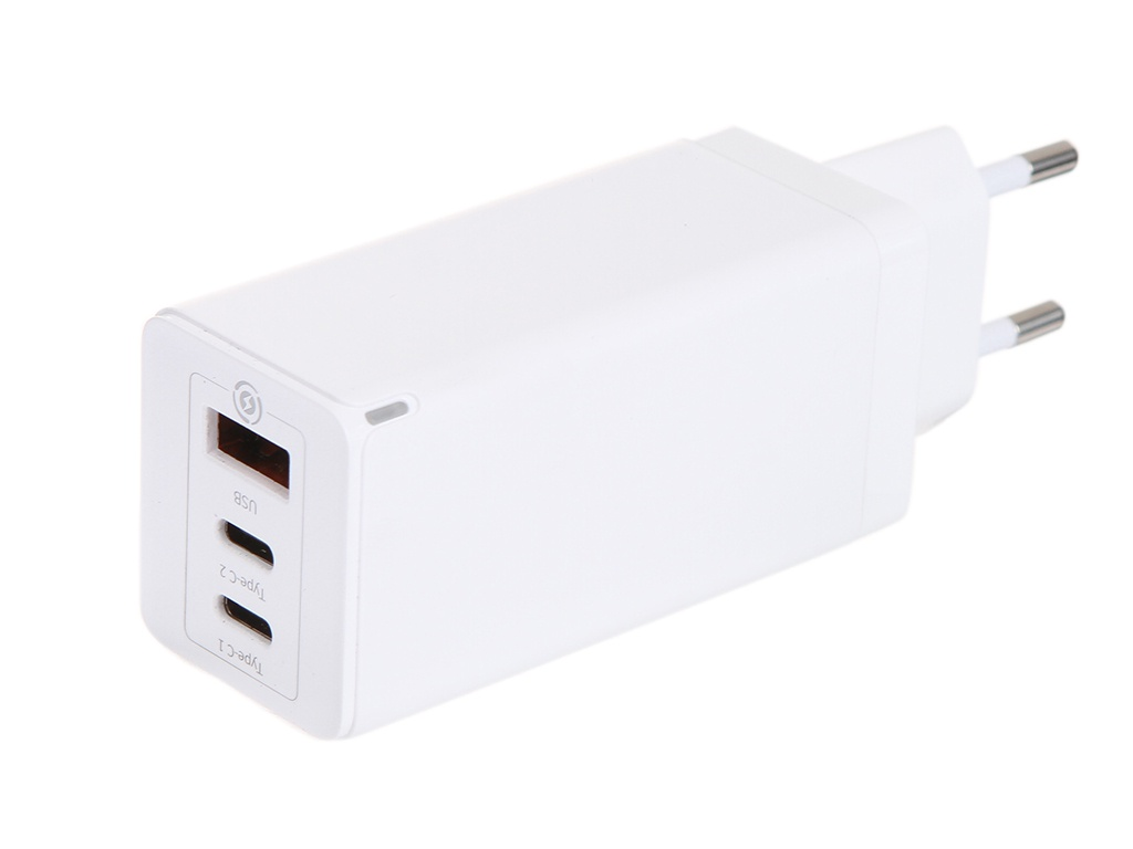 Зарядное устройство Baseus GaN Quick Travel Charger C+C+A 65W EU White CCGAN-B02