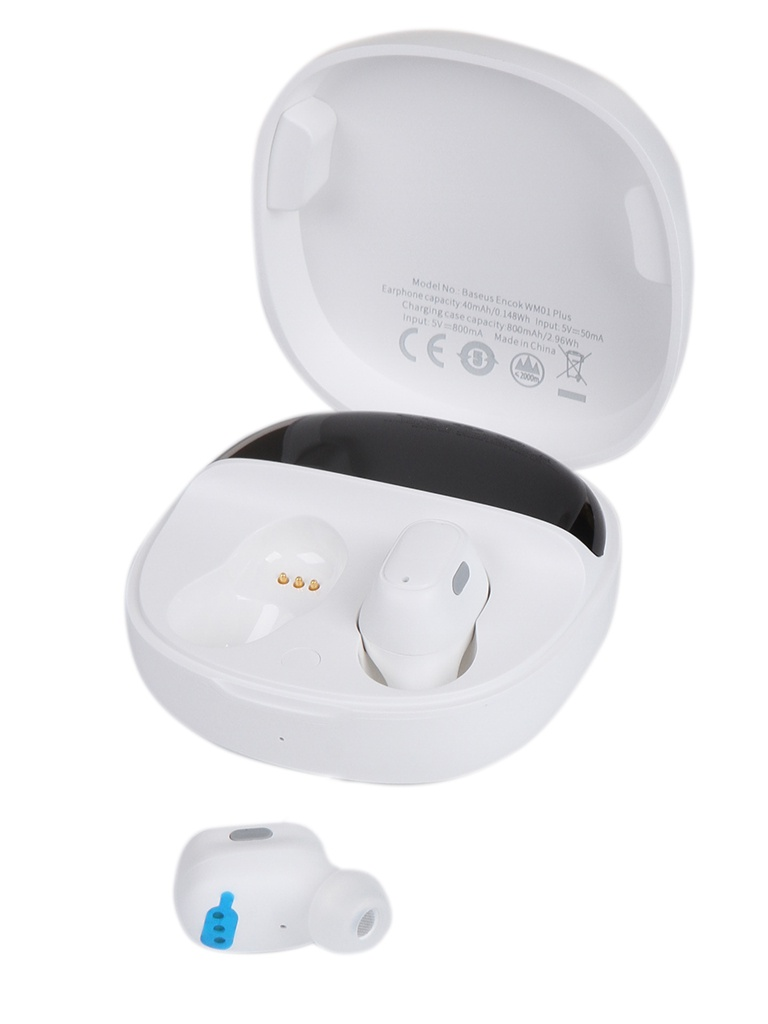 Наушники Baseus Encok True Wireless Earphones WM01 Plus White NGWM01P-02