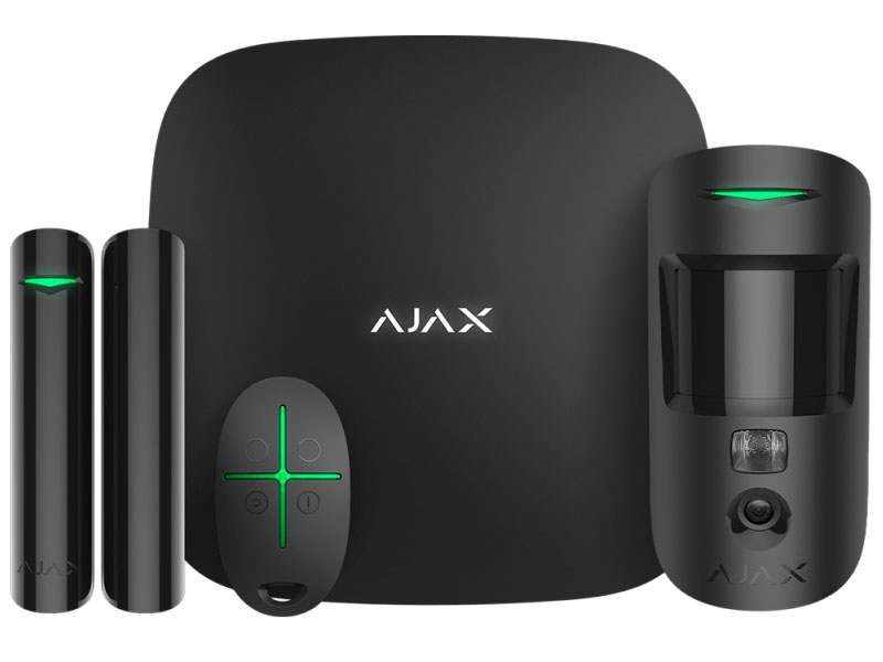 Сигнализация Ajax StarterKit Cam Plus Black 20505.66.BL2