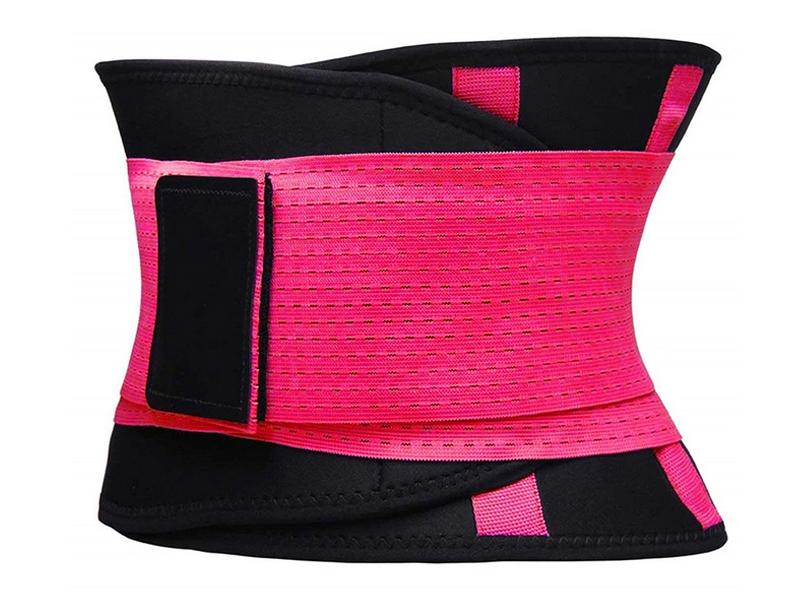 Фитнес пояс для похудения CleverCare размер XL Pink TX-LB033P