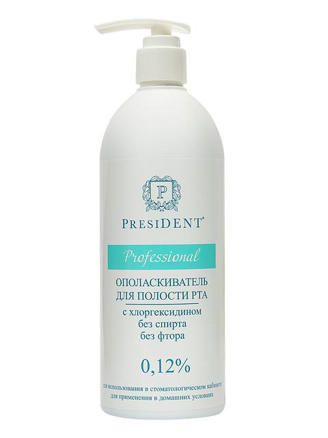 Ополаскиватель для полости рта President Professional с хлоргексидином 0.12 500ml 310255