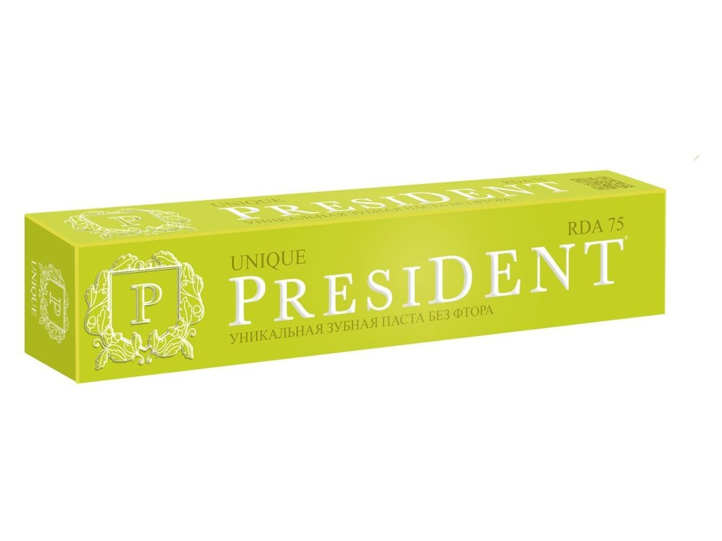 Зубная паста President Unique 75ml 110966