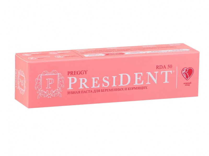 Зубная паста President Preggy 50ml 110887