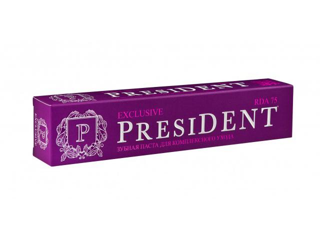 Зубная паста President Exclusive 75ml 110377