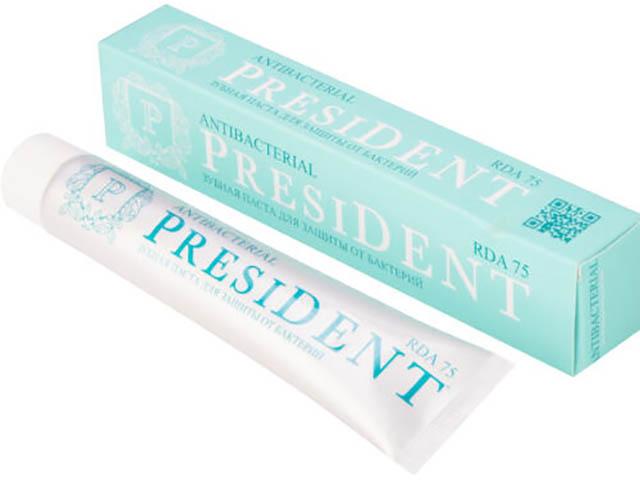 Зубная паста President Antibacterial 75ml 11076