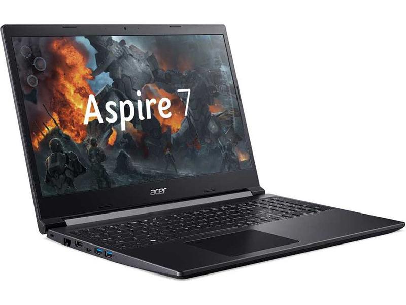 Ноутбук Acer Aspire 7 A715-75G-76UA NH.Q88ER.008 (Intel Core i7-9750H 2.6GHz/8192Mb/256Gb SSD/nVidia GeForce GTX 1650 Ti 4096Mb/Wi-Fi/15.6/1920x1080/Windows 10 64-bit) компьютер dell precision 3630 mt intel core i7 8700 3200 mhz 16gb 256gb ssd dvd rw nvidia geforce gtx 1080 10gb dos