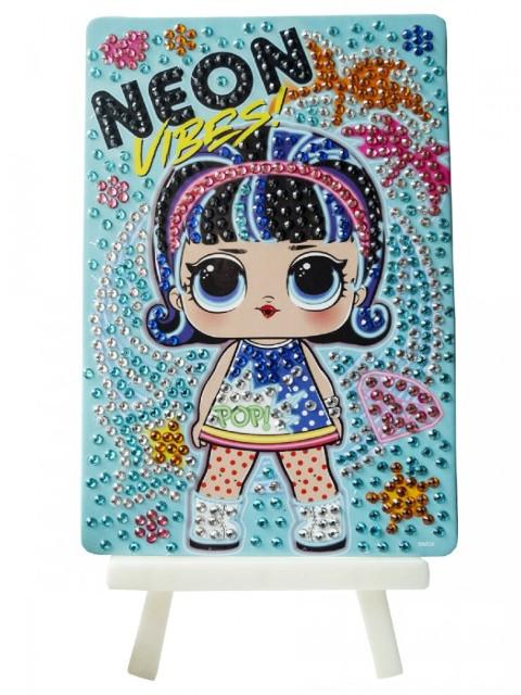 Набор для творчества LOL Алмазная мозаика Neon Vibes 10x15cm LA0010