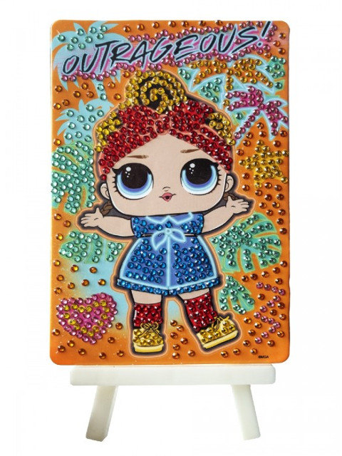 Набор для творчества LOL Алмазная мозаика Outrageous 10x15cm LA0007