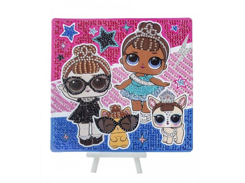 Набор для творчества LOL Алмазная мозаика Glam Life 20x20cm LA0002