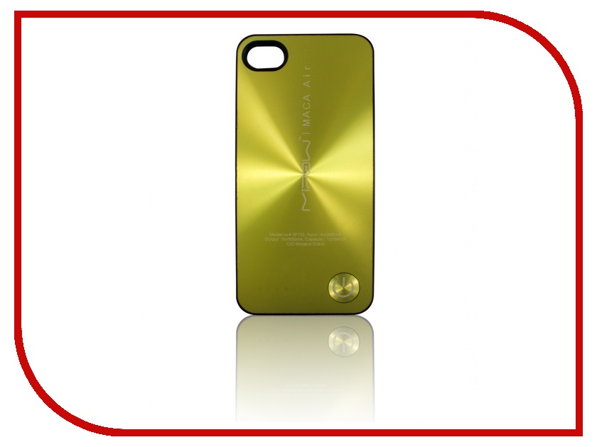 ��������� �����������-����� MiPow Maca SP103A ��� iPhone 4 / 4S Gold
