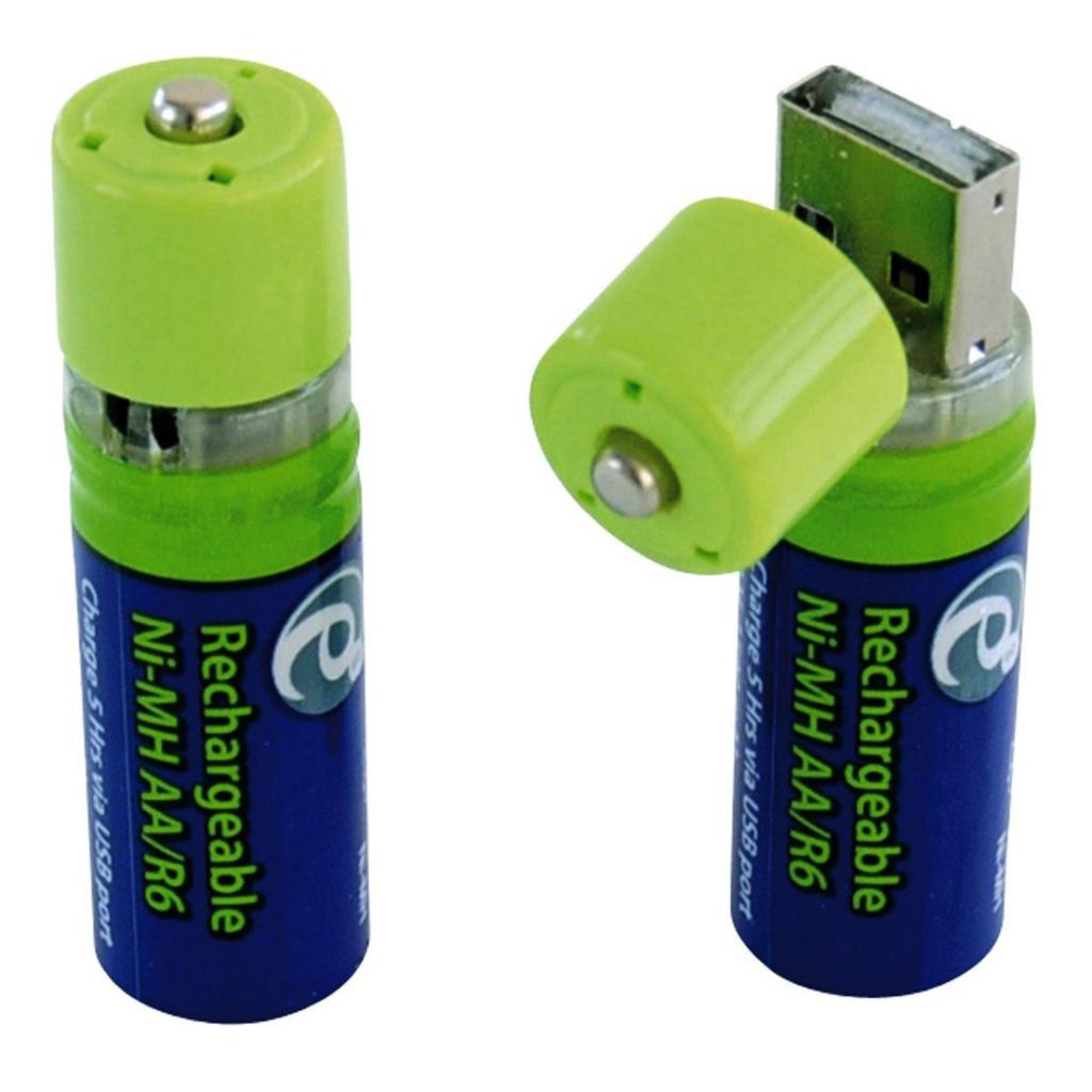 Аккумулятор AA - Energenie EG-BA-001 1500 mAh Ni-Mh USB (2 штуки)