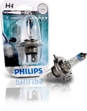 Лампа Philips Xtreme Vision H4 60/55W 12342XVBW / 12342XVB1 1шт<br>