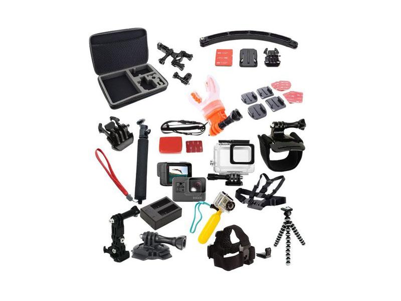 Набор крепежей и аксессуаров Lumiix GP407 для GoPro Hero 7/6/5 Black