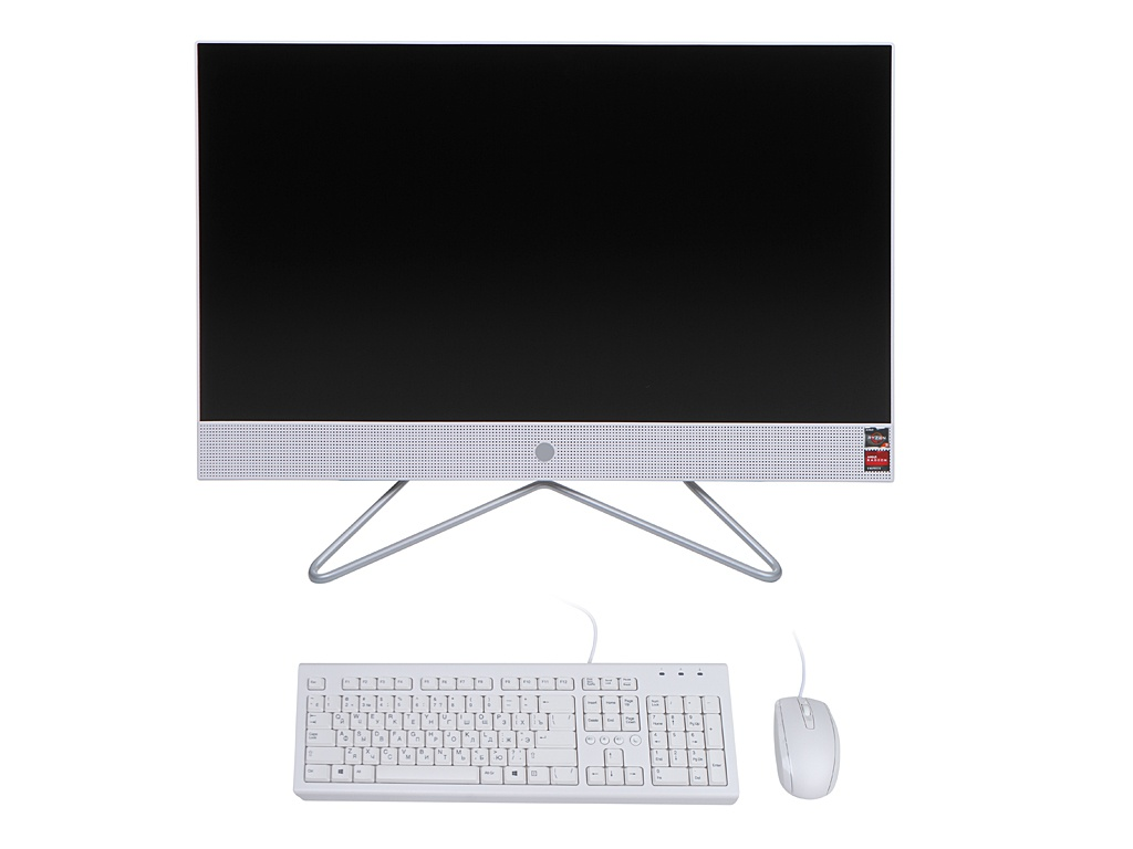 Моноблок HP 24-df0023ur 14P94EA (AMD Ryzen 3 3250U 2.6 GHz/4096Mb/256Gb SSD/AMD Radeon Graphics/Wi-Fi/Bluetooth/Cam/23.8/1920x1080/Windows 10 Home 64-bit)