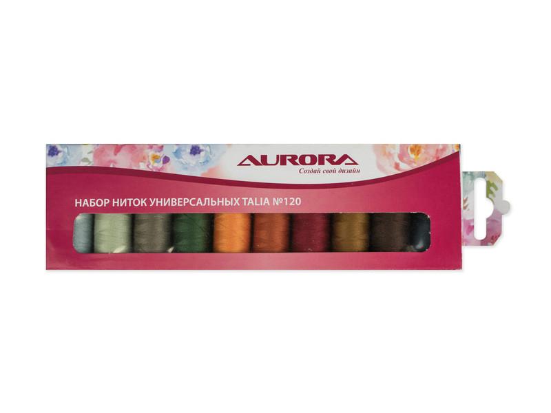 Набор ниток для швейных машин Aurora Talia №120 200м AU-1203