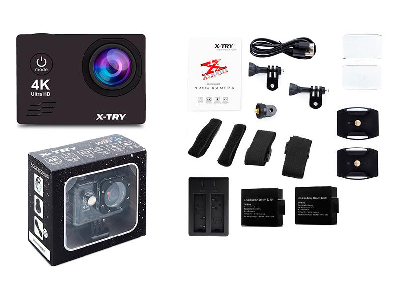 Экшн-камера X-TRY XTC168 Neo UltraHD 4K WiFi Maximal экшн камера x try xtc197 emr 4k wifi