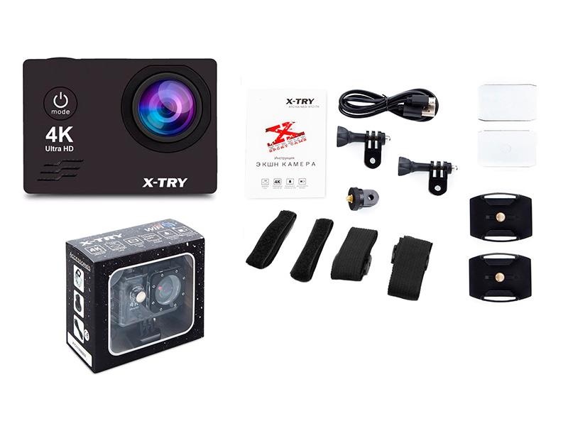 Экшн-камера X-TRY XTC166 Neo UltraHD 4K WiFi Acces Kit экшн камера x try xtc197 emr 4k wifi