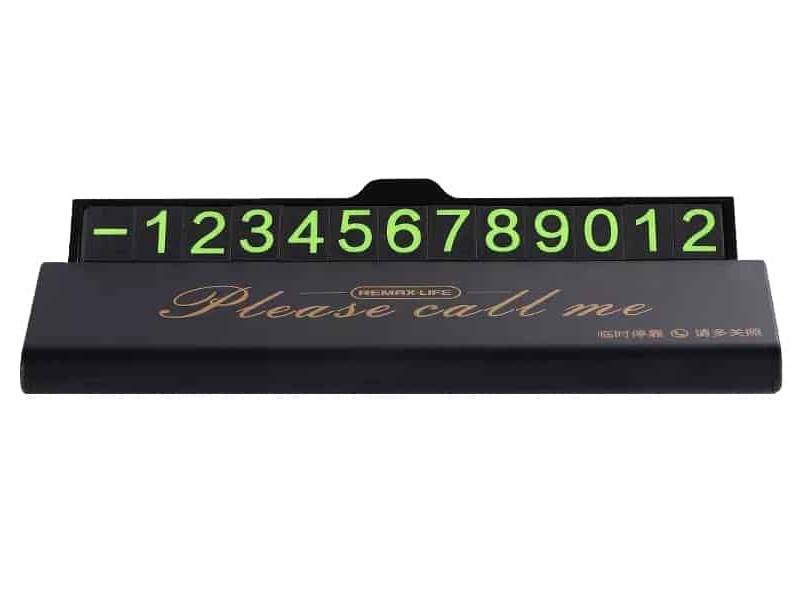 Табличка для номера телефона Remax Life RL-CH06 Phone Number Plate Black