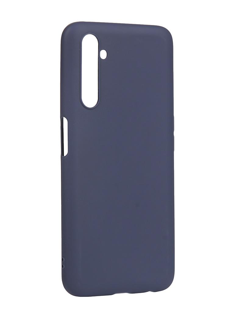 Чехол Zibelino для Realme 6 Pro Soft Matte Blue ZSM-RLM-6PRO-BLU