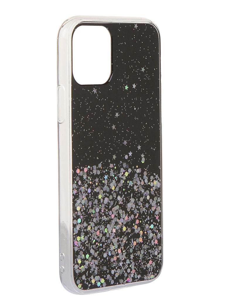 Чехол Bruno для APPLE iPhone 11 Pro 011057 TPU с блестками Black b20938