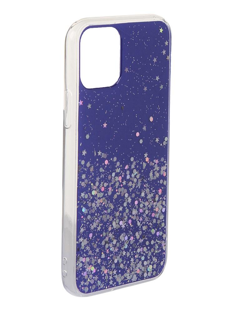 Чехол Bruno для APPLE iPhone 11 Pro 011057 TPU с блестками Blue b20968