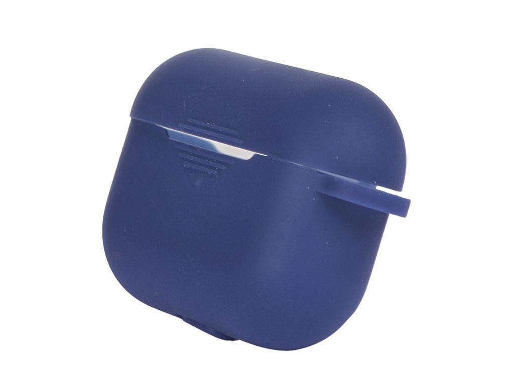 Чехол Bruno для APPLE AirPods Pro Ultrathin с карабином Dark Blue 1275