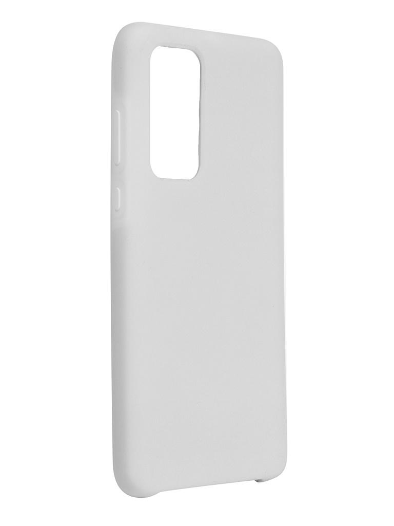 Чехол Bruno для Huawei P40 Soft Touch White b20620