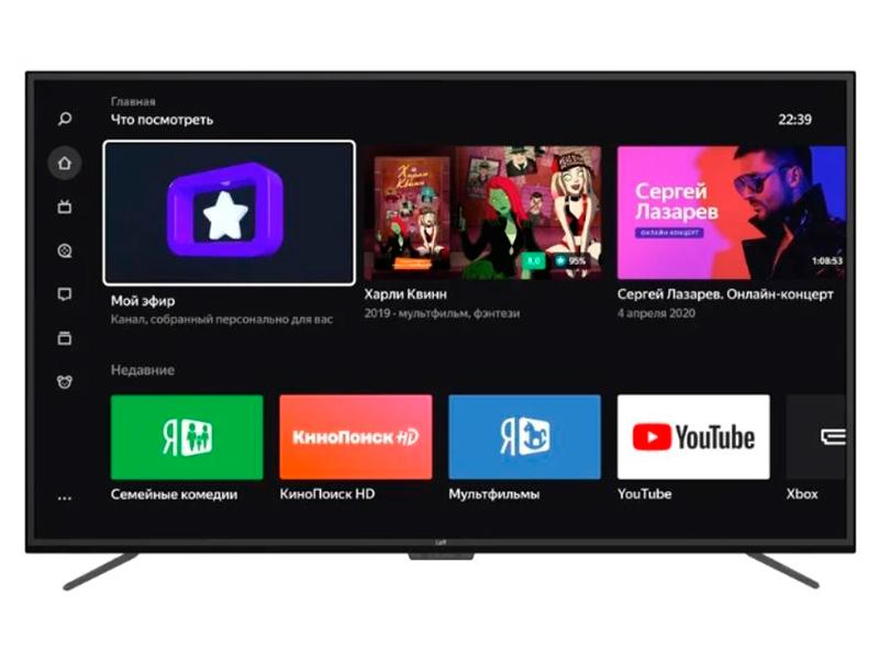 Телевизор Leff 55U510S Выгодный набор + серт. 200Р!!! led телевизор leff 32h510t smart tv 31 5