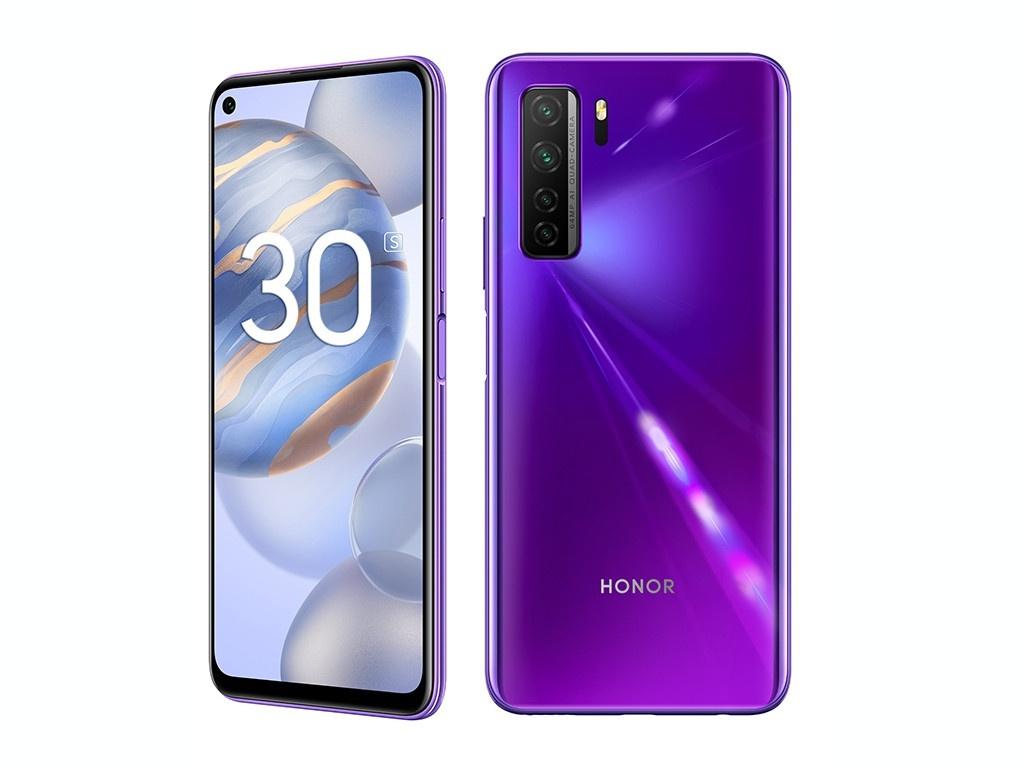 Сотовый телефон Honor 30S 6/128Gb Neon Purple Выгодный набор для Selfie + серт. 200Р!!!