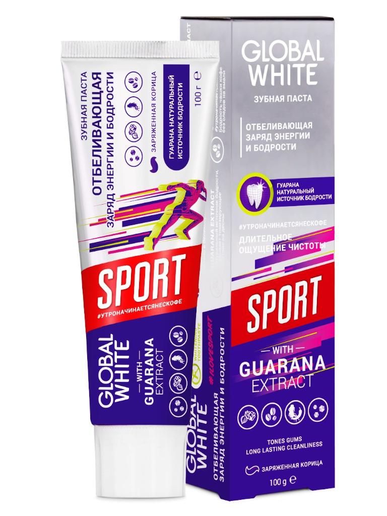 Зубная паста Global White Sport с заряженной корицей 100гр 4605370020441