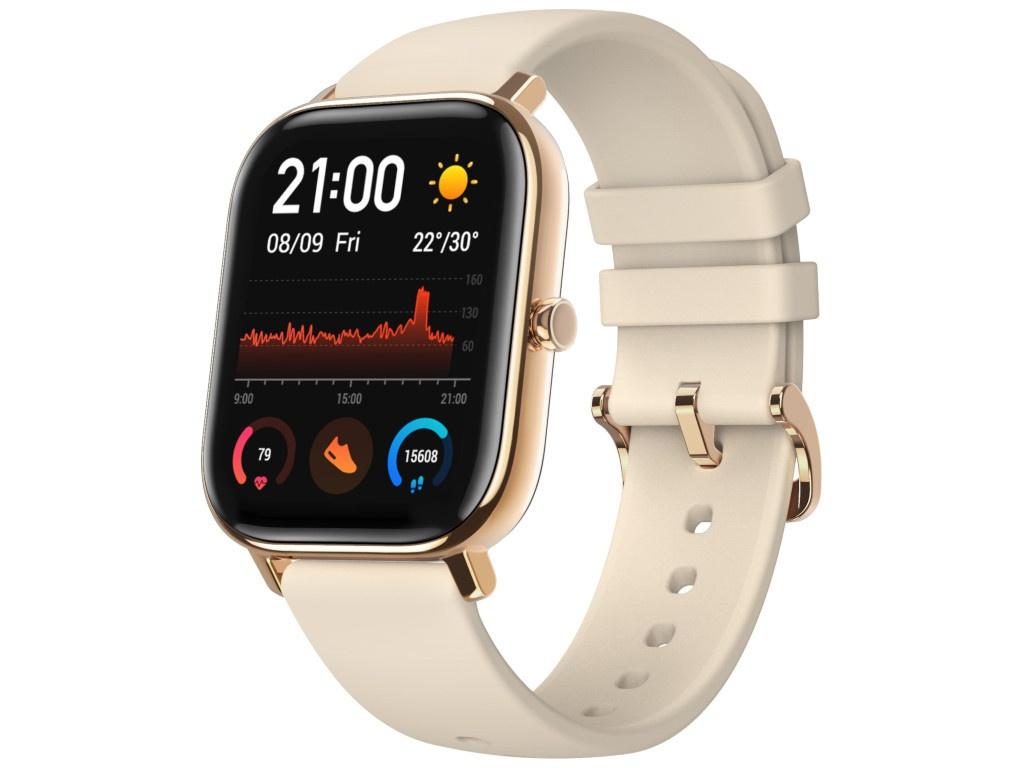 Умные часы Xiaomi Amazfit GTS A1914 Gold Выгодный набор + серт. 200Р!!! умные часы xiaomi huami amazfit gts a1914 rose pink выгодный набор серт 200р