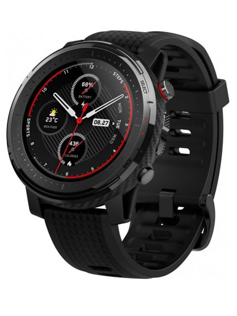 Умные часы Xiaomi Amazfit Stratos 3 A1929 Black Выгодный набор + серт. 200Р!!!