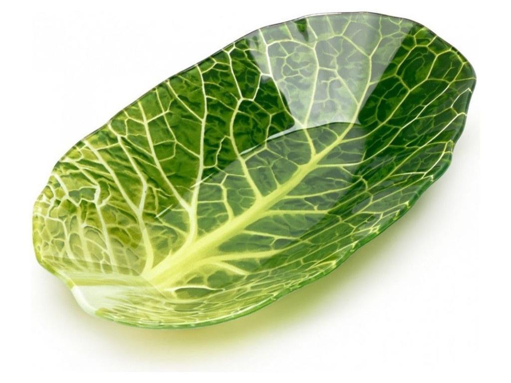 Салатник Walmer Leaf Lettuce 18x27cm W22071827