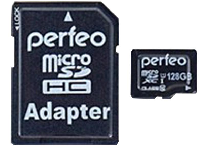 Карта памяти 128Gb - Perfeo microSDXC High-Capacity Class 10 UHS-1 V30 PF128GMCSX10V30