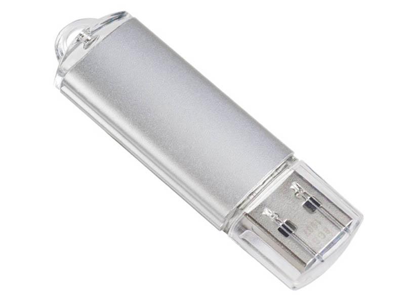 Фото - USB Flash Drive 4Gb - Perfeo USB E01 Silver Economy Series PF-E01S004ES usb flash drive 16gb perfeo m06 metal series pf m06ms016