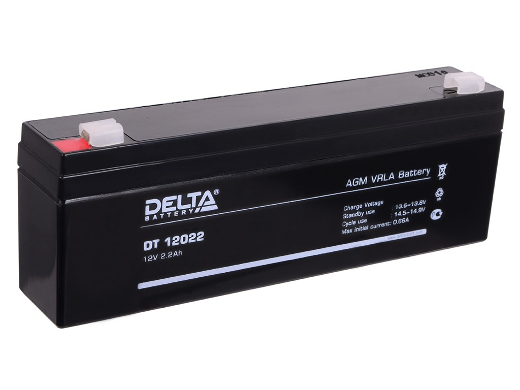Аккумулятор для ИБП Delta DT-12022 12V 2.2Ah