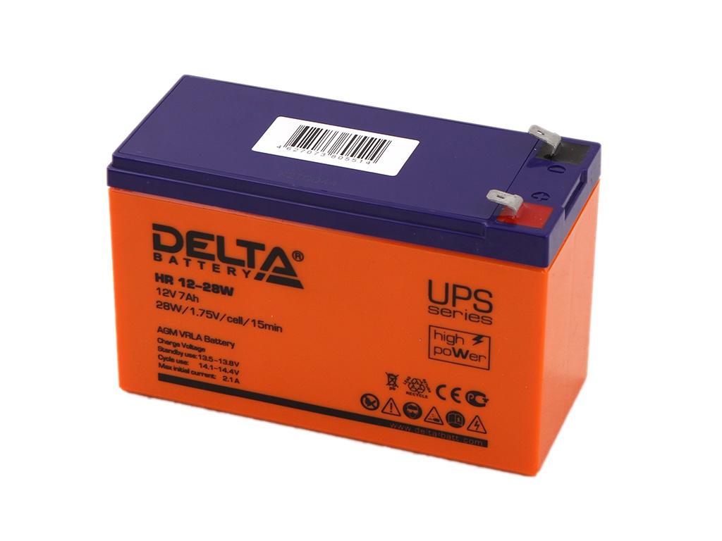 Аккумулятор для ИБП Delta HR 12-28W 12V 7Ah